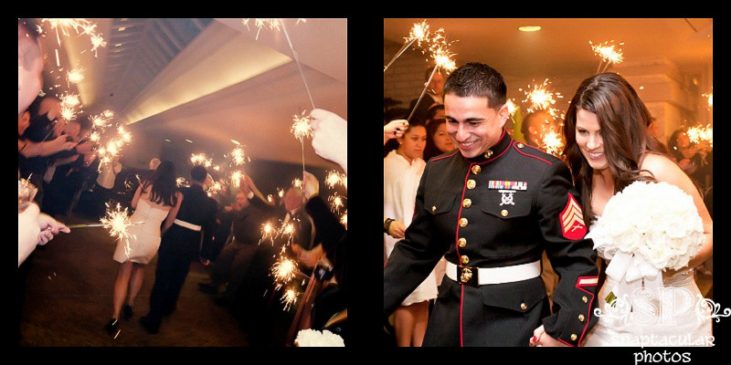 shannon and keith's sparkler exit at the houston racquet club houston texas