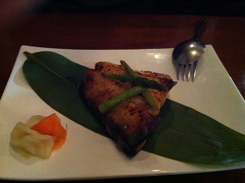 grilled black cod with yuzu miso
