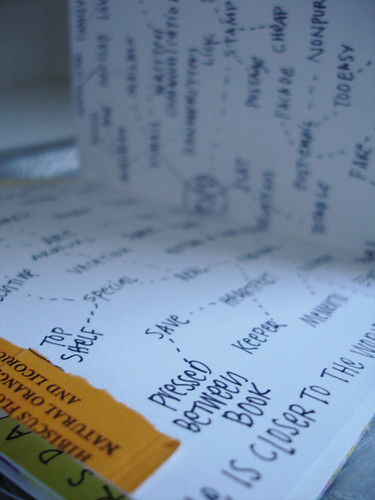 pressed between book
