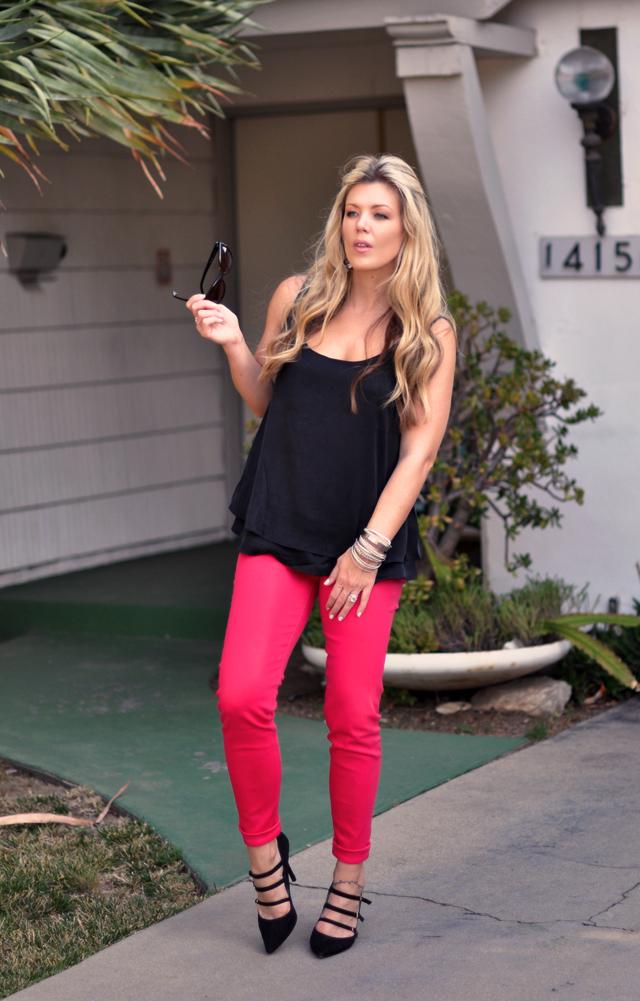 J Brand Shocking Pink Jeans   FNO 2011