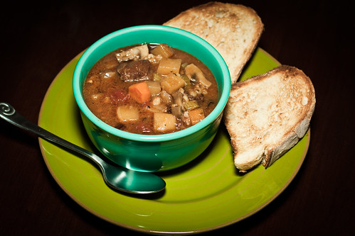 Beef, Beer and Barley Soup