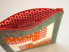 basket weave (Spotted Stone Studio {Krista}) Tags: modern bright farmers pouch wife zipper patchwork zip