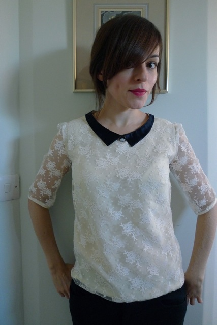 Tilly And The Buttons Refashioned Lace Blouse
