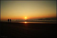 Let's Walk Together (Scott Farrar - dsfdawg) Tags: ocean sunset sea love beach sc water sunrise walking sand waves head south hilton footprints lovers carolina dsfotography dsfdawg
