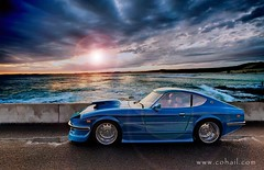 Z 240 HDR - After Rain (COHAIL) Tags: blue sky sun beach car rain 3d z kuwait hdr hdri vray