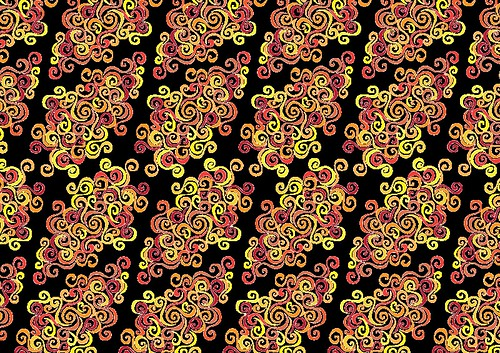 Firery Curlicues Pattern - Copyright R.Weal 2011