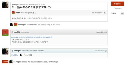 #82: 沢山話があることを表すデザイン - Issues - komagata/kowabana - GitHub