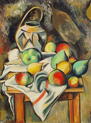 "Paul Cezanne's ""Ginger Jar & Fruit"" (1895) • <a style=""font-size:0.8em;"" href=""https://www.flickr.com/photos/78624443@N00/6153470578/"" target=""_blank"">View on Flickr</a>"