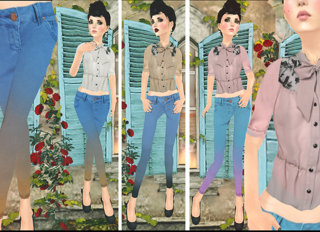 jOLIE! Bluse + Ombree Jeans