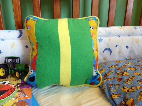 sesame street pillow back