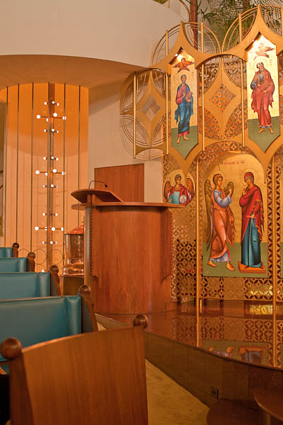 Annunciation Greek Orthodox Church - Icons, Pulpit, and Lights