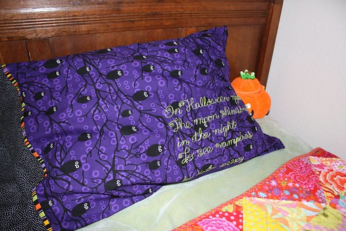 Halloween pillowcase