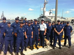 Coast Guard District Seven units welcome MCPOCG Leavitt