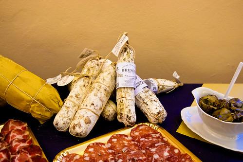 Wild boar salami at Consorzio Agrario di Siena