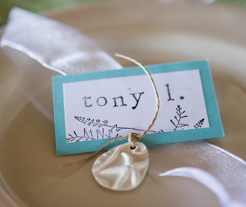 our handmade place cards