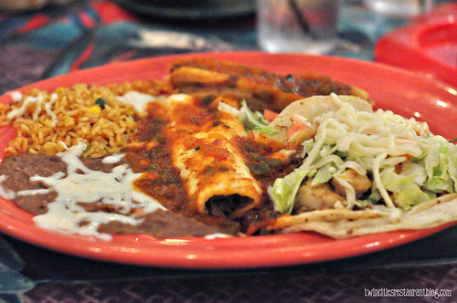 Tamale, Enchilada and Fish Taco Platter at Casa Margarita ~ La Grange IL