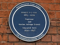 Photo of Ernest F. G. Cox blue plaque