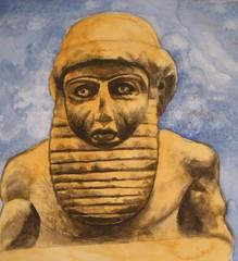 Sumerian Sculpture (JeremiahGC) Tags: middleeast mesopotamia sumer sumerian earlyart sumerianart