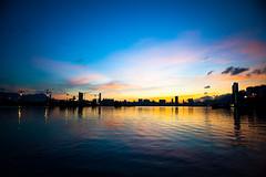Kwun Tong Harbour Plaza (*waito) Tags: sunset sun magic magichour kwuntong d700 waitoo