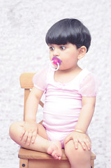 Sweet baby Layan .. (Rawan Mohammad ..) Tags: pink boy 2 baby cute art girl kids photography nikon artist photographer little photos sweet australia before brisbane mohammed saudi arabia after years tamron mohammad 2010 rn   2011 rawan               d300s rnona    almuteeb