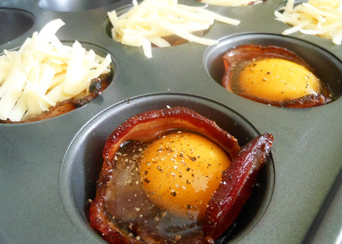 recipe: bacon wrapped eggs with cheese. I.