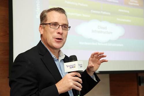 Yahoo!全球產品管理暨產品行銷部資深副總裁Bill Shaughnessy介紹Yahoo!出版平台