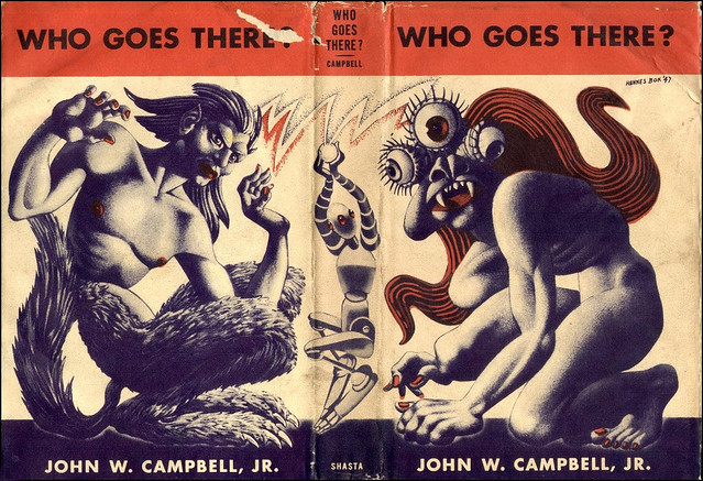 Hannes Bok - Who Goes There? First Edition (Shasta Publishers, 1947). John W. Campbell, Jr, wrap around