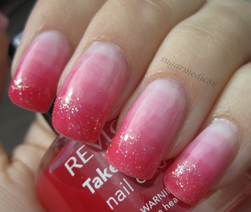 Pink Syrup Glitter Nails