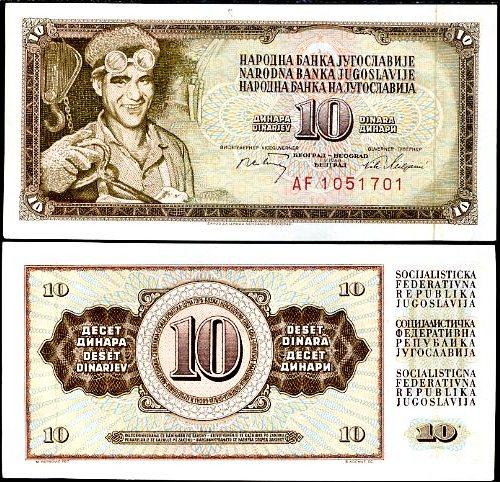 10 Dinárov Juhoslávia 1968, Pick 82