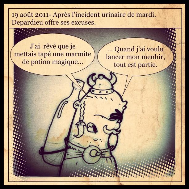 Le dessin du jour: Depardieu offre ses excuses.