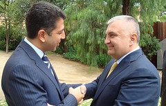 UfMS Secretary General Ahmad Masa'deh welcomes the Albanian Foreign Affairs Minister (ahmadmasadeh) Tags: ahmad masadeh
