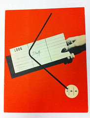 "Alvin Lustig's design for ""Staff"" magazine. Aimed at the staff of Look magazine. 1944 (Herb Lubalin Study Center) Tags:"