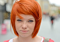 Tyler (45/100) (drmaccon) Tags: street portrait prime eyes nikon leicester strangers streetphotography streetportrait beautifulwoman streetphoto redhair nikon50mm 100strangers mcconnochie d5100 nikond5100 drmaccon