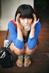 [フリー画像] 人物, 女性, アジア女性, 201108241500