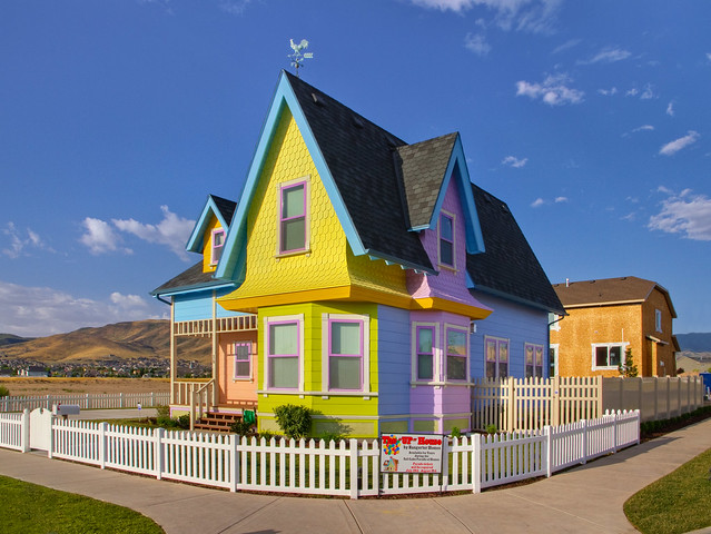Disney Pixar 'Up' house replica in Utah