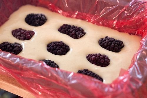 Peach Semifreddo with Blackberries