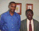 Aaron Thegaya, RHODES SCHOLAR, with Prof. Odiambo