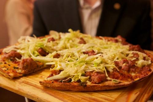 Pork pizza