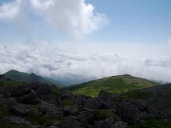 前トムに迫る雲海