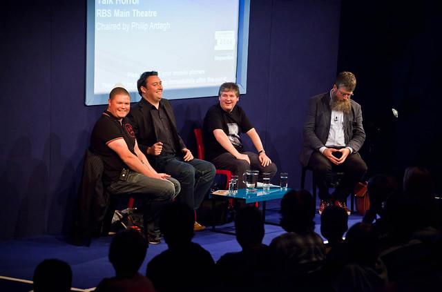 Darren Shan, Barry Hutchison, Alexander Gordon Smith and Philip Ardagh