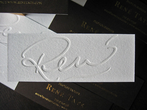 Ren tate photography business cards dolce press rene tate photography letterpress foil cards reheart Gallery