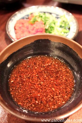 Dipping sauce, Sakura Japanese Restaurant