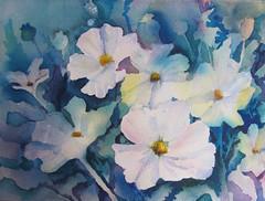 Ann Mortimer's Class (Patsy Jennings) Tags: art negativespace watercolour elementsorganizer annmortimertutor