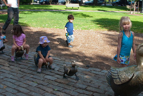 """Make Way for Ducklings"" statue at the Boston Public Garden"