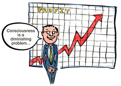 consciousness is not a problem... (HikingArtist.com) Tags: illustration drawing cartoon business times profit consciousness hikingartist