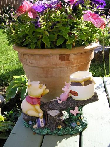 Pooh and Piglet birdbath