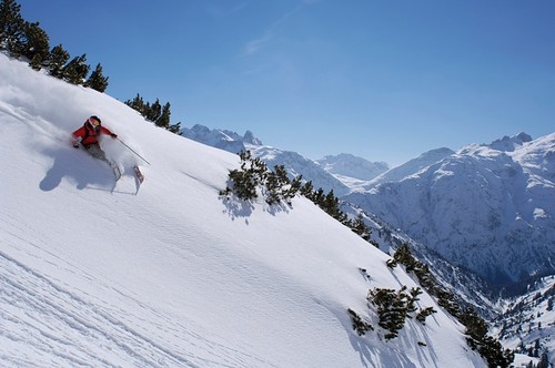 Off-piste powder in St. Anton
