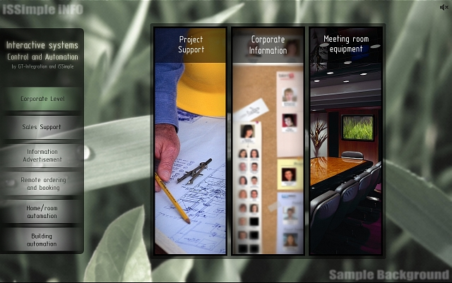 touch screen information system user interface