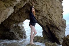 Beautiful Redhead Swimsuit Bikini Model Goddess (45SURF Hero's Odyssey Mythology Landscapes & Godde) Tags: california hot beach beautiful beauty sand pretty surf cloudy tide models redhead socal swimsuits bikinis 45surf