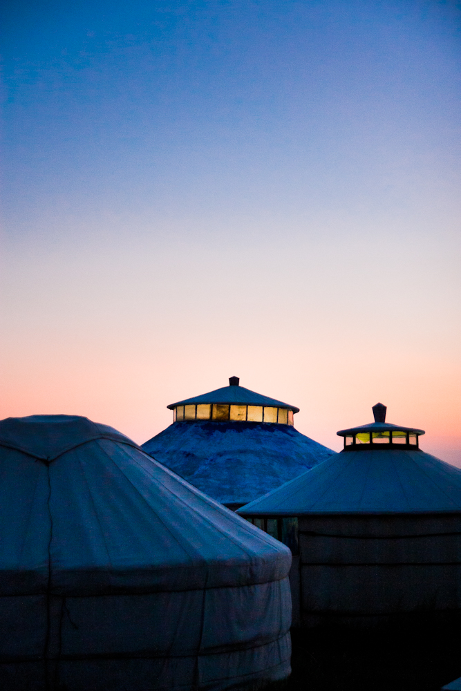 Yurt in Blue